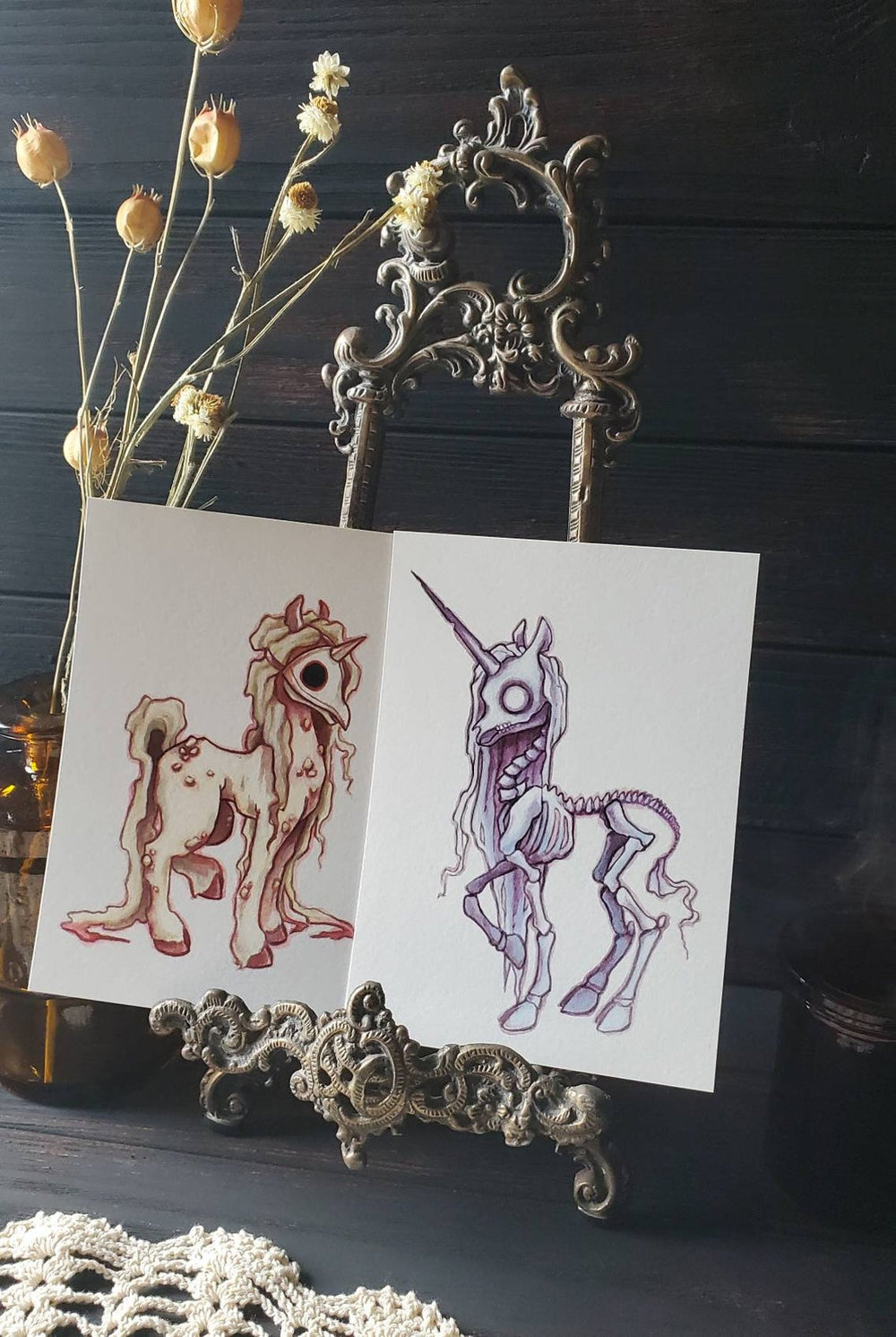 Apocalypse unicorn- Print set -Lowbrow misfits White Stag Art