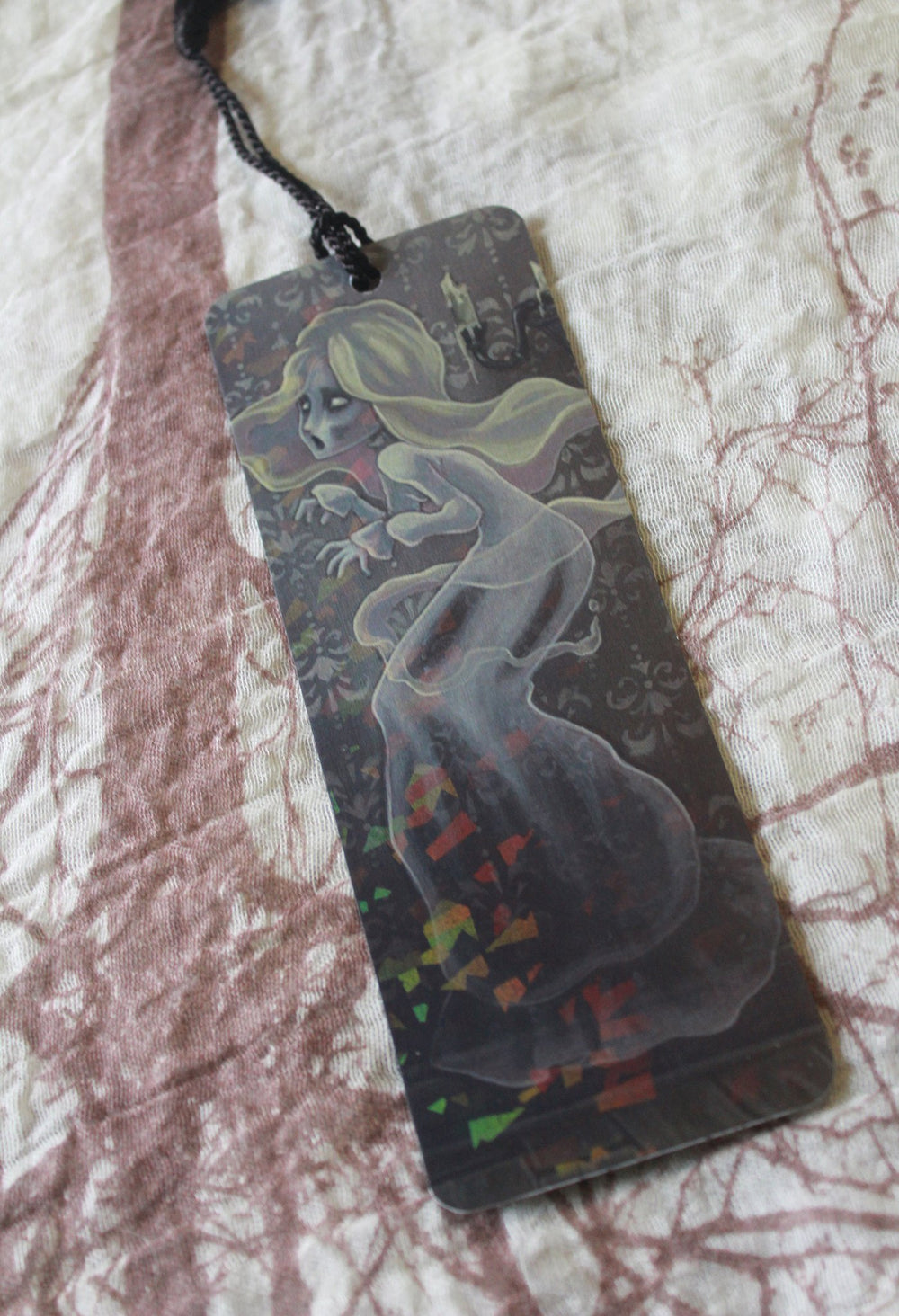 Wailing Halls Holographic Bookmark -Lowbrow misfits White Stag Art