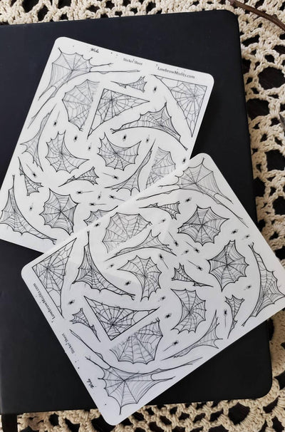 Spider Web Sticker Sheet