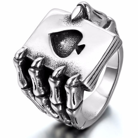 """Playing poker 'til death"" Ring"