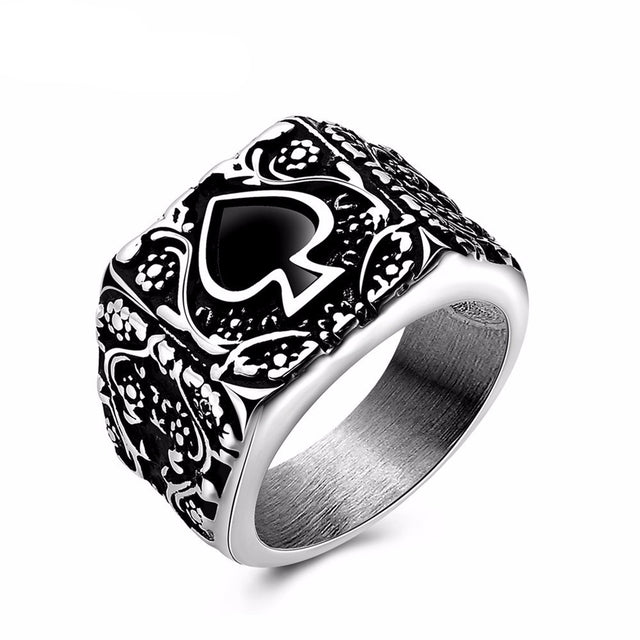 "Ace of Spades ""The Legends"" Ring"