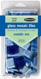 Metallic Glass Tiles - Light Mix - SKU 912-24509W