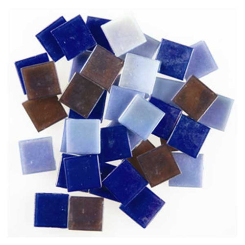 Iridescent Glass Tiles - Dark Mix - SKU 912-24510W