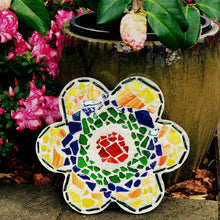 Mosaic Flower Stepping Stone Kit - SKU 901-11277W