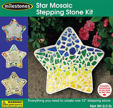 Mosaic Star Stepping Stone Kit - SKU 901-15122W