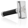 Phantom Butterfly Safety Razor Kit for Men + 5 Platinum Double Edge Razor Blades + Leather Blade Guard + Polishing Towel