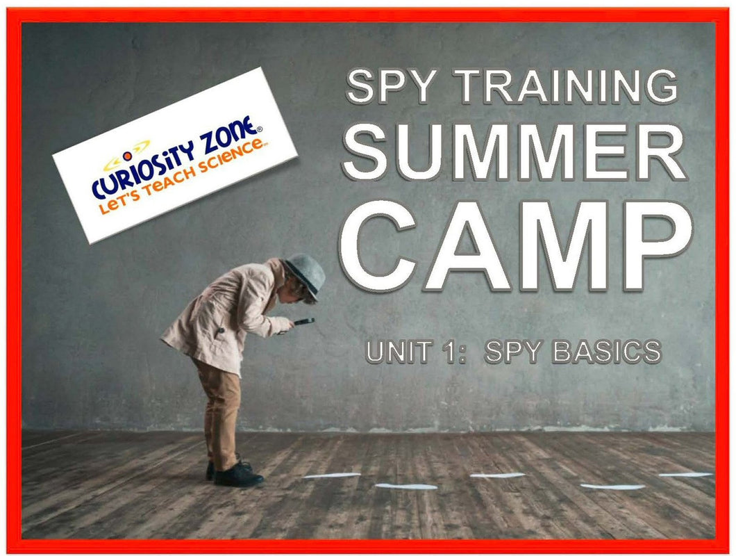Spy Training Camp:  Spy Basics (3 hours)