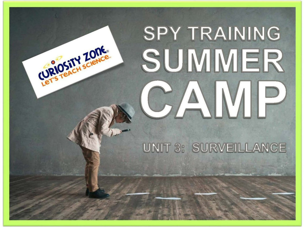 Spy Training Camp: Surveillance (3 hours)