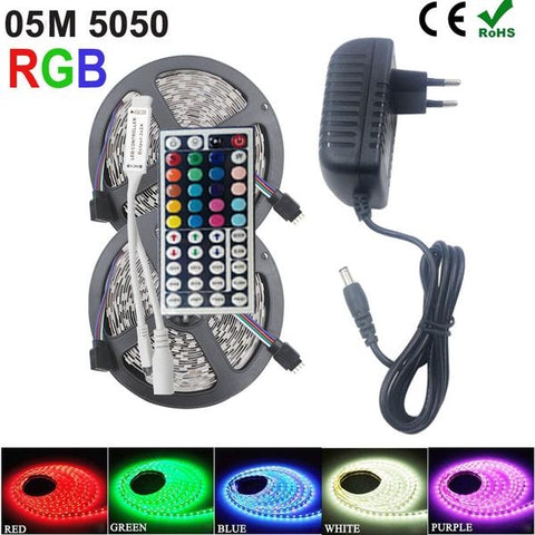 Remote Controlled SMD RGB LED Strip Light 5050 (5 Meters/10Meters)