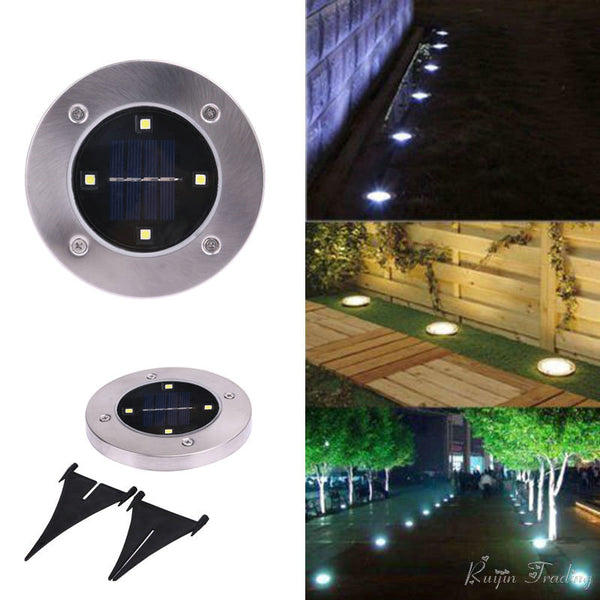 Solar Powered Floor Path LED Light - FREE SHIPPING