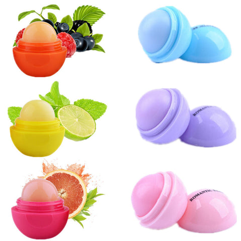 Top Sell Ball Lip Balm Protector Fruit Sweet 6 Color Natural Plant Organic Lipstick Embellish Chapstick Sphere Lip Care Cosmetic