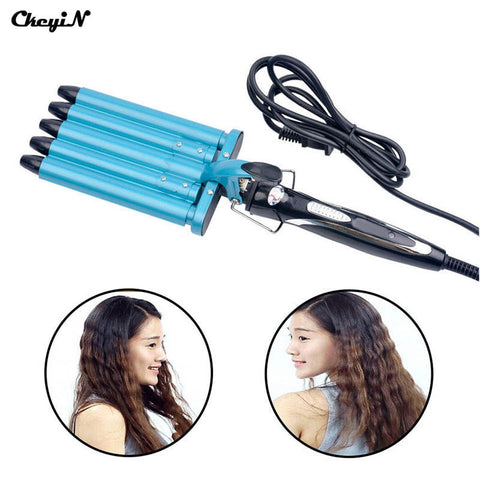 Pro Nano Titanium 5 Barrels Five Pipe Joint Big Hair Wave Waver Ceramic Curler Curl Curling Irons Hairstyle Tools HS11-S4949