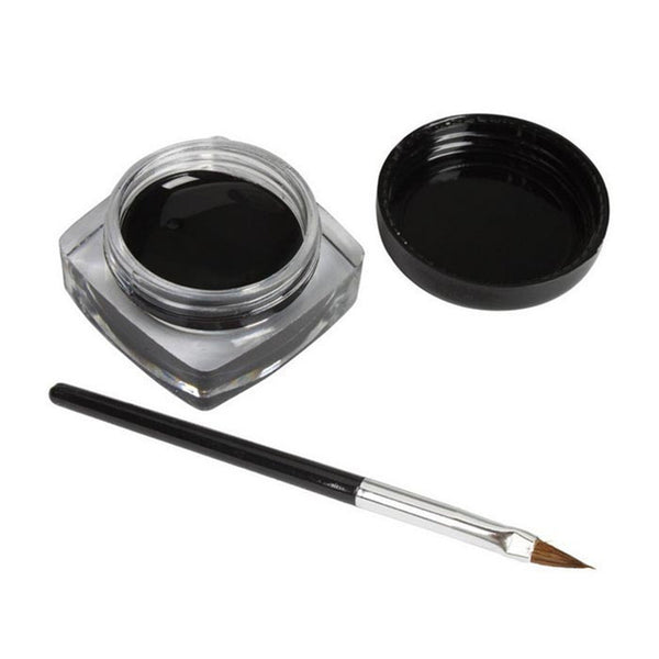 2016 new arrival 1x Eyeliner Gel Cream With Brush Makeup Black Waterproof Eye Liner suits for women beauty best deal wholesale