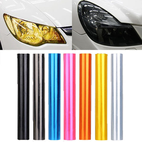 30cm x 100cm Auto Car Tint Headlight Taillight Fog Light Vinyl Smoke Film Sheet Sticker Cover 12inch x 40inch Car styling