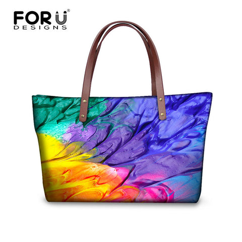 FORUDESIGNS Brand Graffiti Design Handbag For Women High Quality Casual Tote Bag Spanish Shouler Bag Crossbody Casual Large Bag