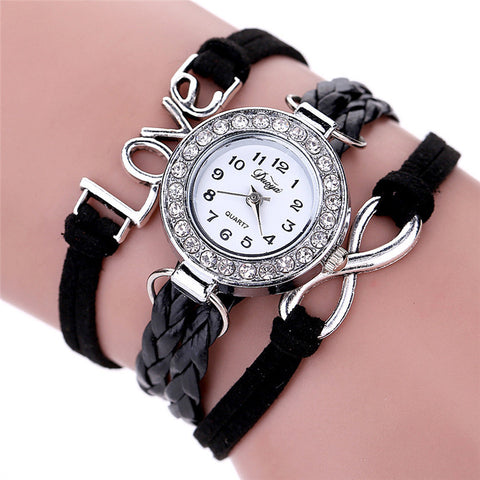 2017 Top brand luxury women watches famous brands Women Duoya Femmes Mode Casual Bracelet En Cuir Montre-Bracelet Femmes Robe