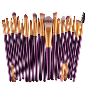 20 Pcs 16 Color Professional Soft Cosmetics Beauty Make up Brushes Set Kabuki Kit Tools maquiagem Makeup Brushes