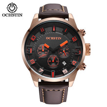 Luxury Brand Chrono 24 Hours Date Leather Sports Watches Men Quartz Analog Clock Male Fashion Casual Army Military Wristwatch