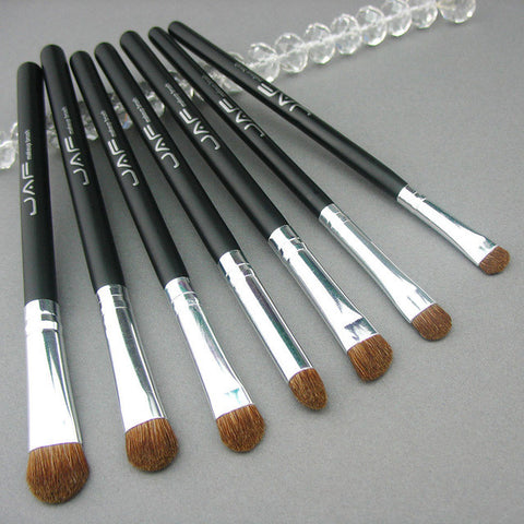 Retail JAF Classic 7pcs Brushes for Makeup 100% Natural Animal Horse Pony Hair Eye Makeup Brush Set JE07PY