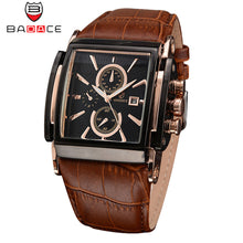 BADACE Brand Genuine Real Leather Strap Mens Watches Casual Square Japan Movt Quartz Watch Luxury Business Wrist Watch 2098