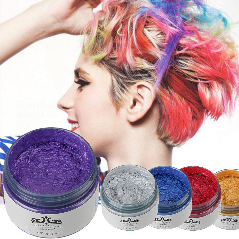 5 Colors Hot Sale New Fashion Hair Wax Non Toxic Temporary Pastel