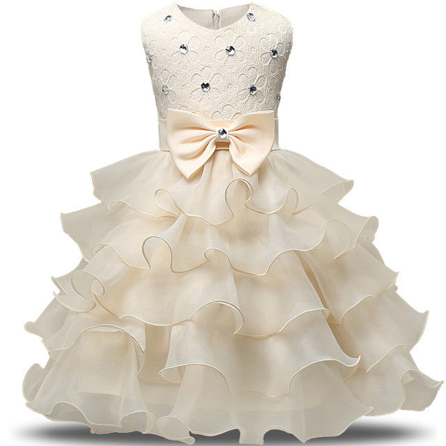 New Formal Children Ball Gown Baby Girl Clothing Wedding Princess ...