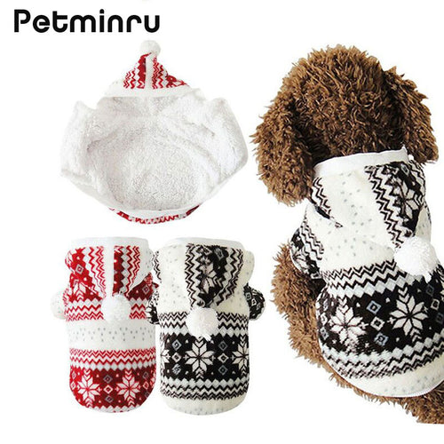 Petminru Hot Selling Winter Pet Clothes Cozy Snowflake Soft Dog Clothes jacket Cat Costume Teddy Hoodie Dog Coat Pet Clothing