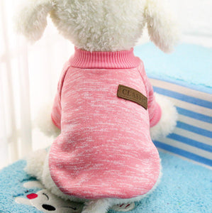 Classic Warm Dog Clothes Puppy Pet Cat Jacket Coat Winter Fashion Soft Sweater Clothing For Small Dogs Chihuahua XS-2XL 25S1