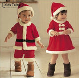 SR039  newborn baby clothes bebe baby girls and boys clothes Christmas red and white party dress hat Santa Claus hat sliders