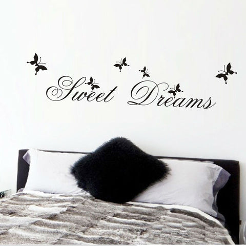hot sell sweet dream quotes wall stickers home decorations 2002. living bedroom diy decals mural arts printing poster paper 3.5