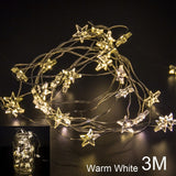 QIFU 2m 5m LED String Light Christmas Tree Decoration Ornament Christmas 2018 Merry Christmas Decorations for Home Noel New Year