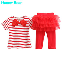 Humor Bear Kids set summer wear Short sleeve set  Children clothing suit t shirt+pants baby girls clothing