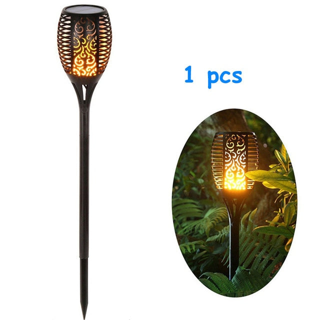 Hot Selling! 2019 LED Solar Path Torch Light Dancing Flame