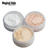 Magical Halo Long Lasting Loose Powder Waterproof Matte Setting Powder with Puff Concealer Light Banana Powder Mineral Makeup