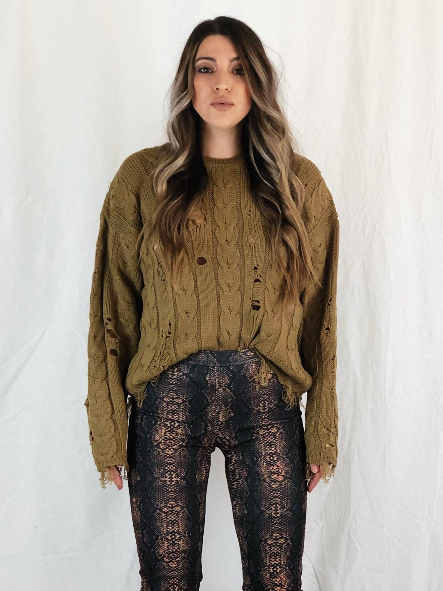 MORGAN DISTRESSED JUMPER