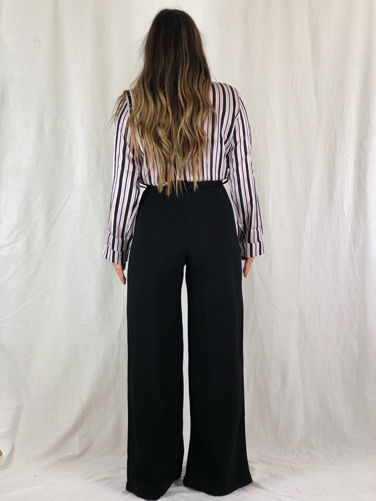 FRANCE BLACK PAPERBAG TROUSERS
