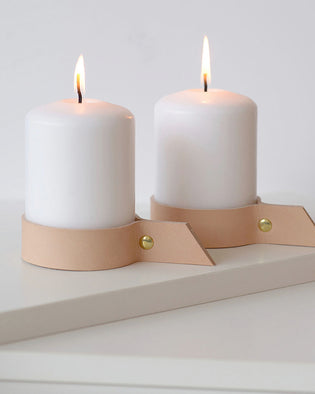 Alva - 2 Nude Candlesticks For Bigger Candles