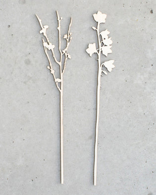Cherry Blossom And Bellflower - Wooden Flowers (Large)