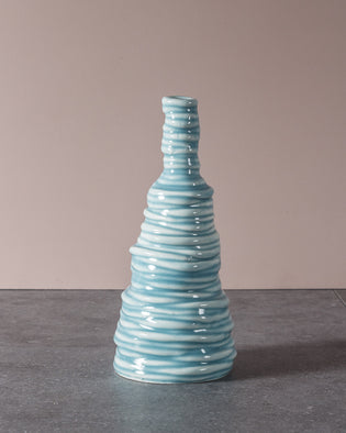 Coiled High Vase Turquoise No 6