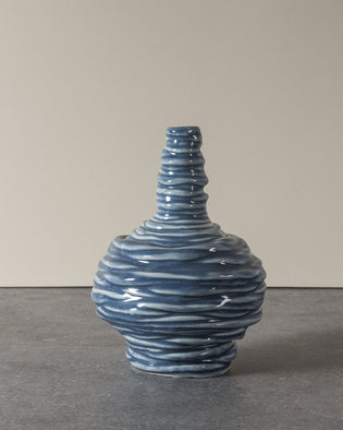Coiled Small Vase Blue No 8