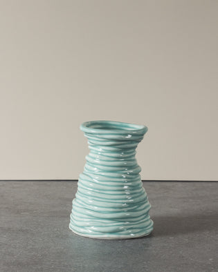 Coiled Vase Turquoise No 5