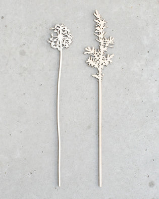 Dandelion And Juniper - Wooden Flowers (Large)