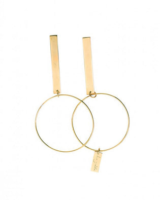 Deluxe - Earrings Brass