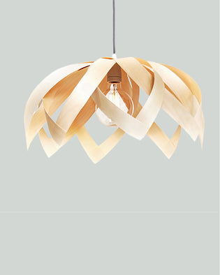 Lotus Maple - Wooden Veneer Lamp - Pendant Lighting