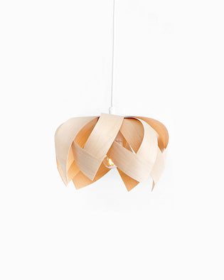 Lotus Mini Maple - Wooden Veneer Lamp - Pendant Lighting
