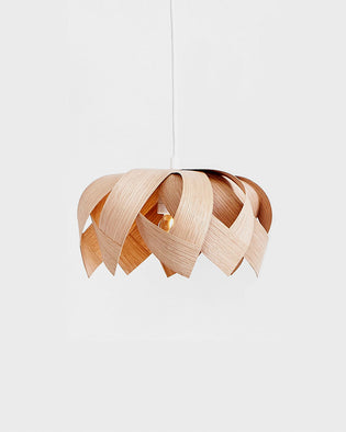 Lotus Mini Oak - Wooden Veneer Lamp - Pendant Lighting