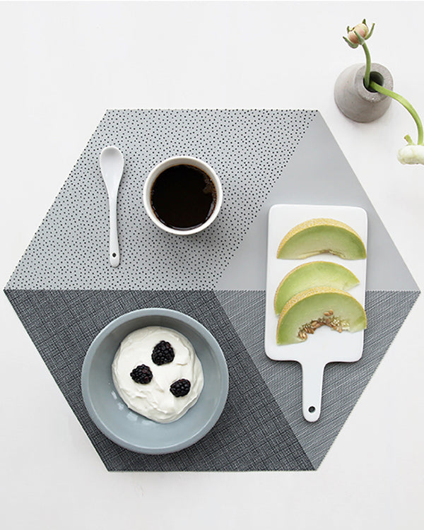 Polygon Placemat - Concrete Set Of 2