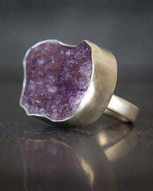 Precious Drusy Ring Purple
