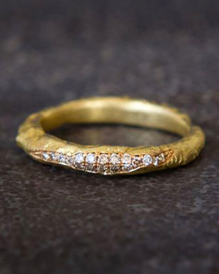 Recycled 18K Gold And Diamond Ring