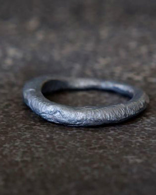 Recycled Oxidized Silver Ring
